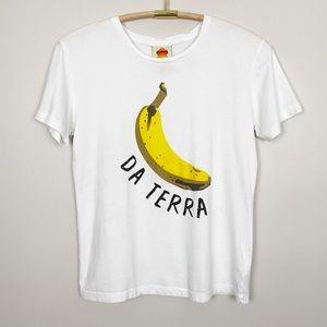 FARM RIO Da Terra Banana Tee XS Graphic Fruit